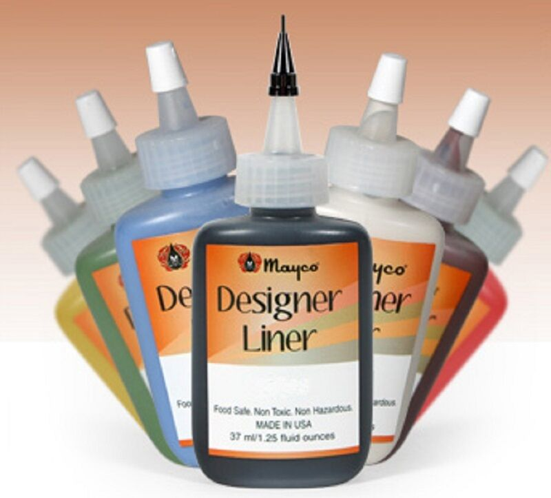 Mayco designer liner ceramic glaze writers 1 each of all 10 colors