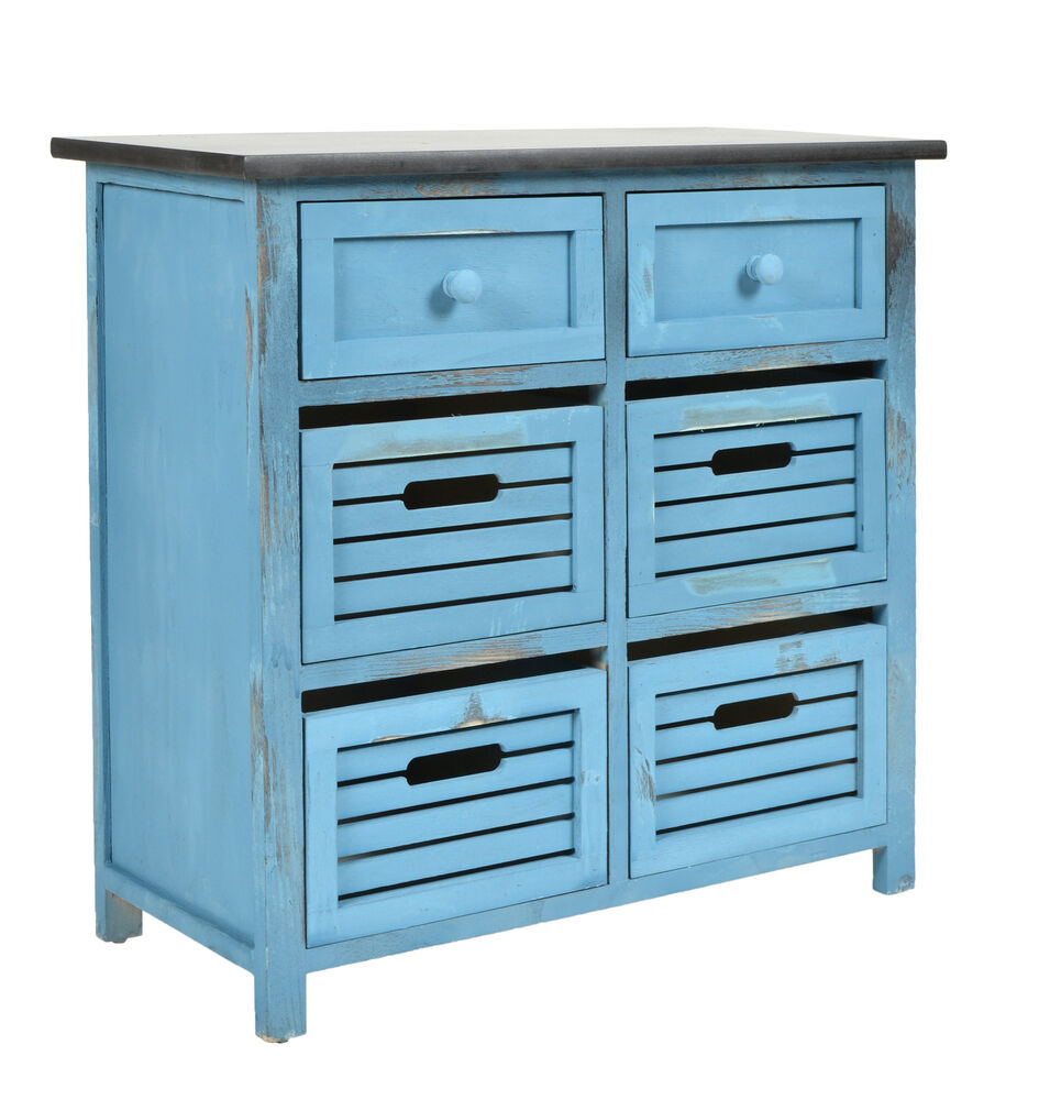 landhaus kommode flur bad schrank shabby used optik blau. Black Bedroom Furniture Sets. Home Design Ideas