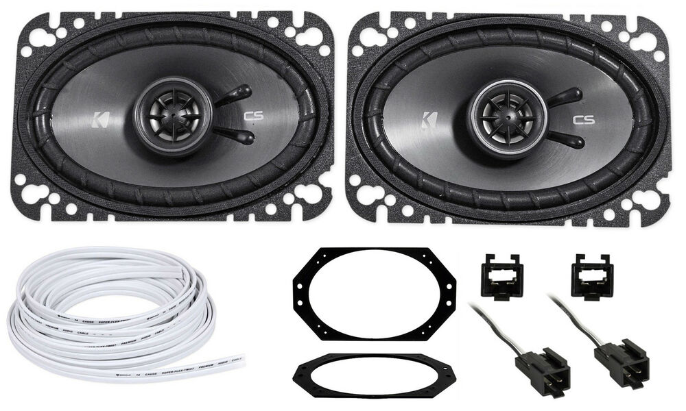 jeep wrangler tj 97 02 kicker csc 4x6 front factory speaker replacement wire ebay. Black Bedroom Furniture Sets. Home Design Ideas
