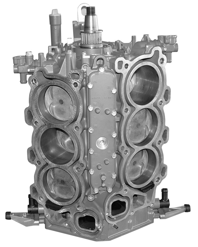 Remanufactured yamaha 225 hp v6 4 stroke short block 2004 for 225 yamaha 4 stroke