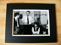 SIR GEORGE MARTIN GENUINE HAND SIGNED AUTOGRAPH 10X8 PHOTO MOUNT BEATLES & COA