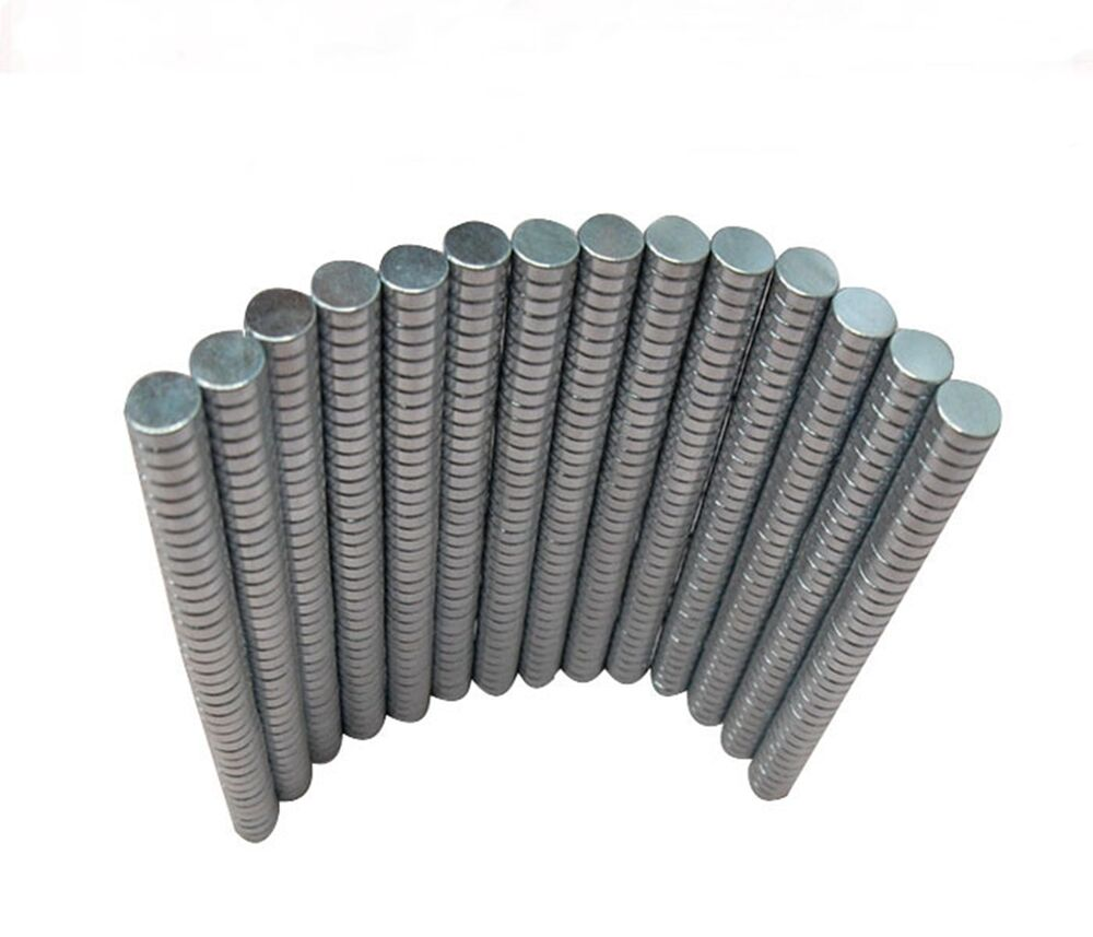 50pcs n38 2x1mm neodymium disc super strong rare earth for Super strong magnets for crafts