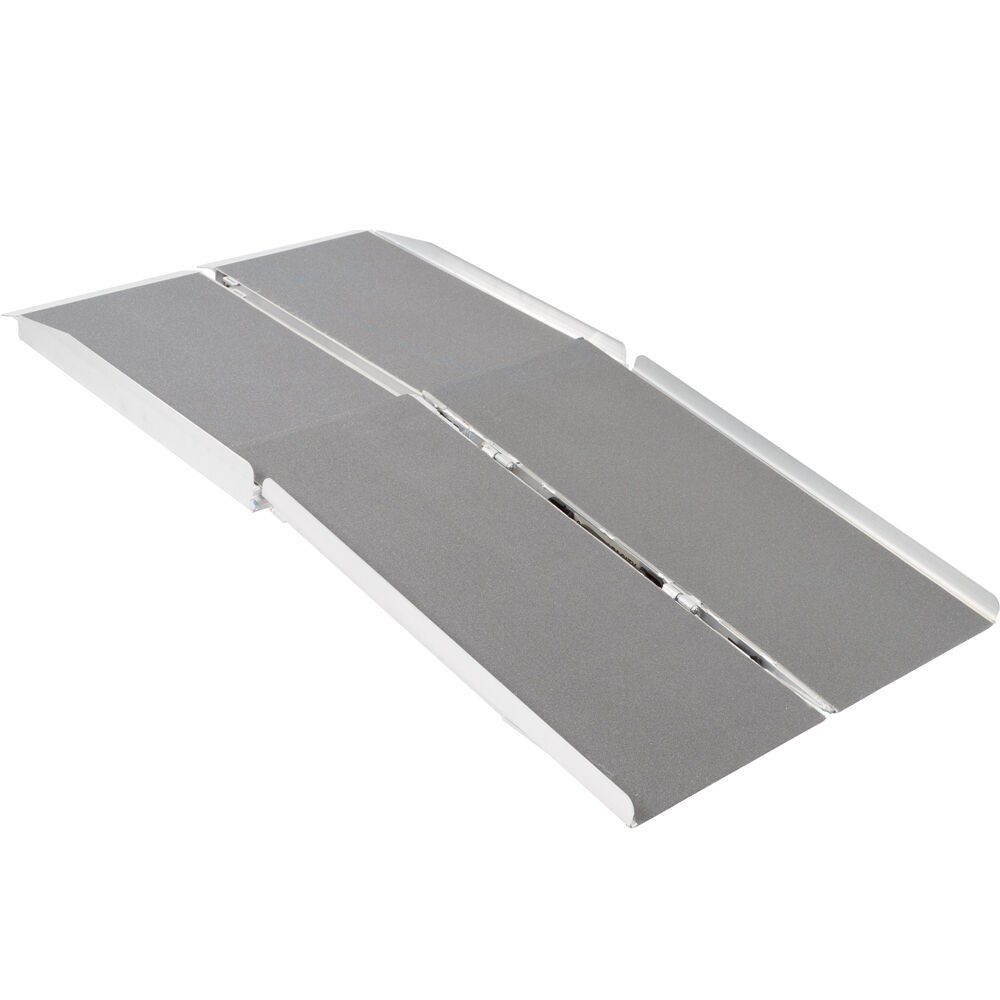 539 aluminum folding wheelchair scooter mobility ramp for Aluminum wheel chair ramps