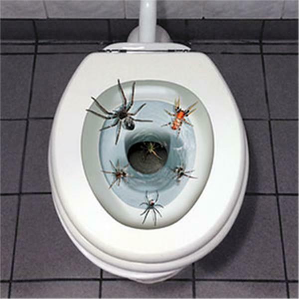 Halloween Spider Toilet Seat Cover Peel And Place