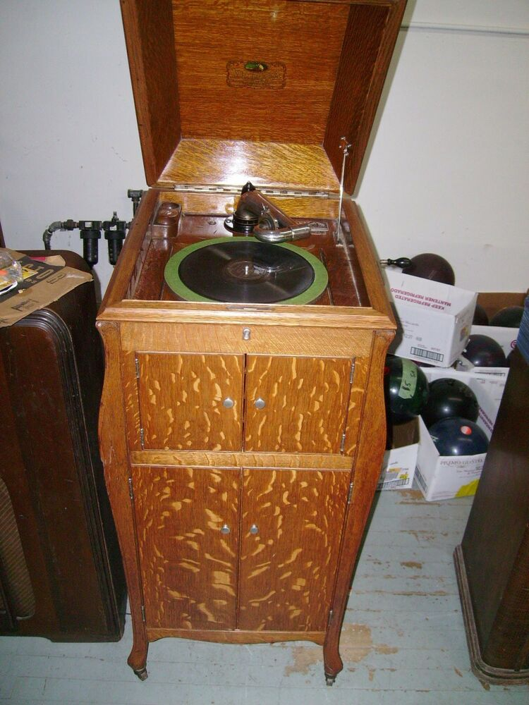 Vintage Antique Victrola Phonograph Record Player Ask