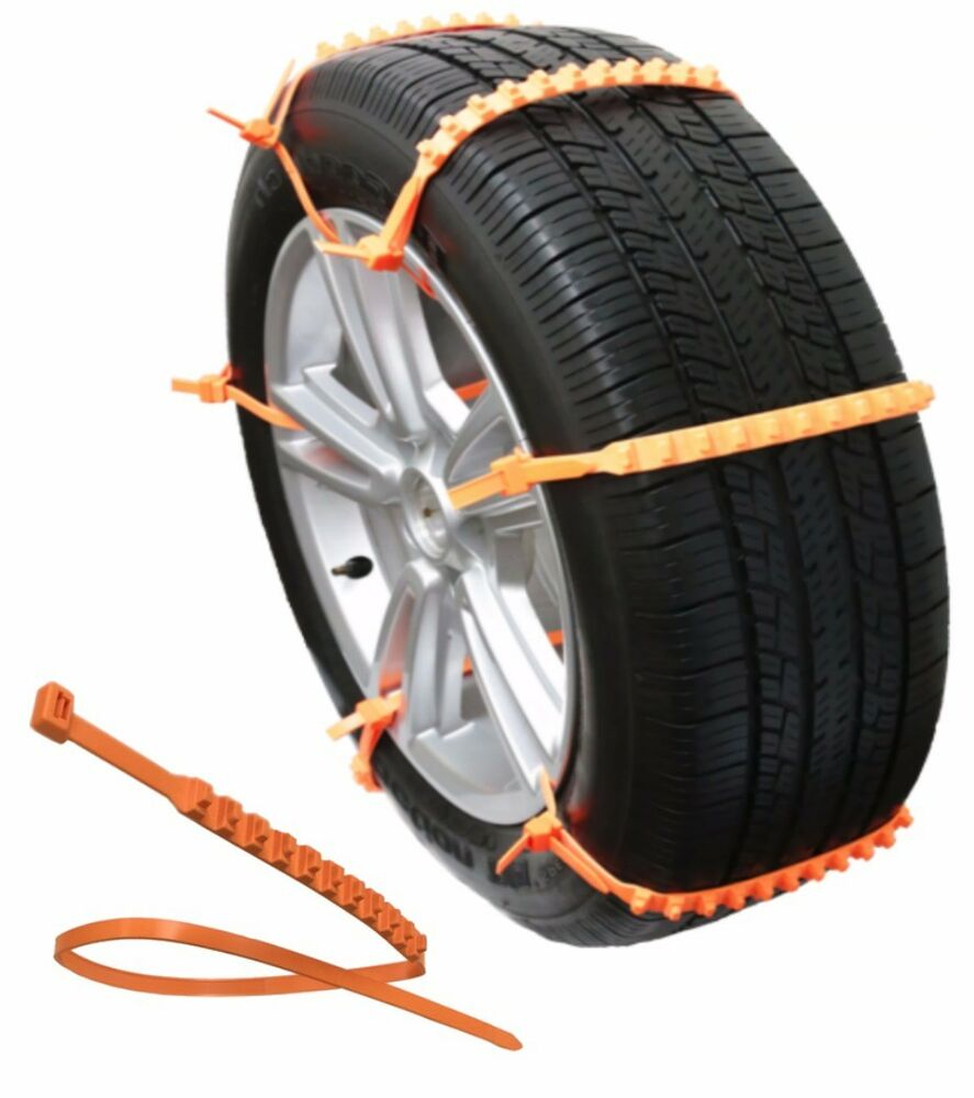 zip grip go emergency tire chain traction for snow ice mud in car van suv truck ebay. Black Bedroom Furniture Sets. Home Design Ideas