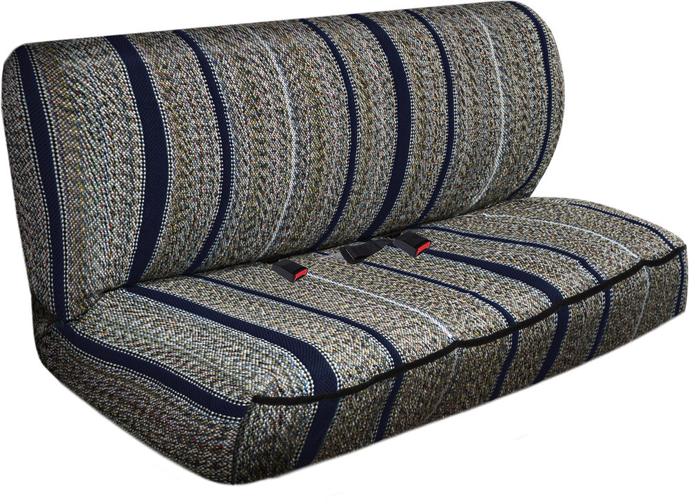 Suv Van Truck Seat Cover Navy Blue Western Woven Saddle Blanket 2pc Bench Ebay