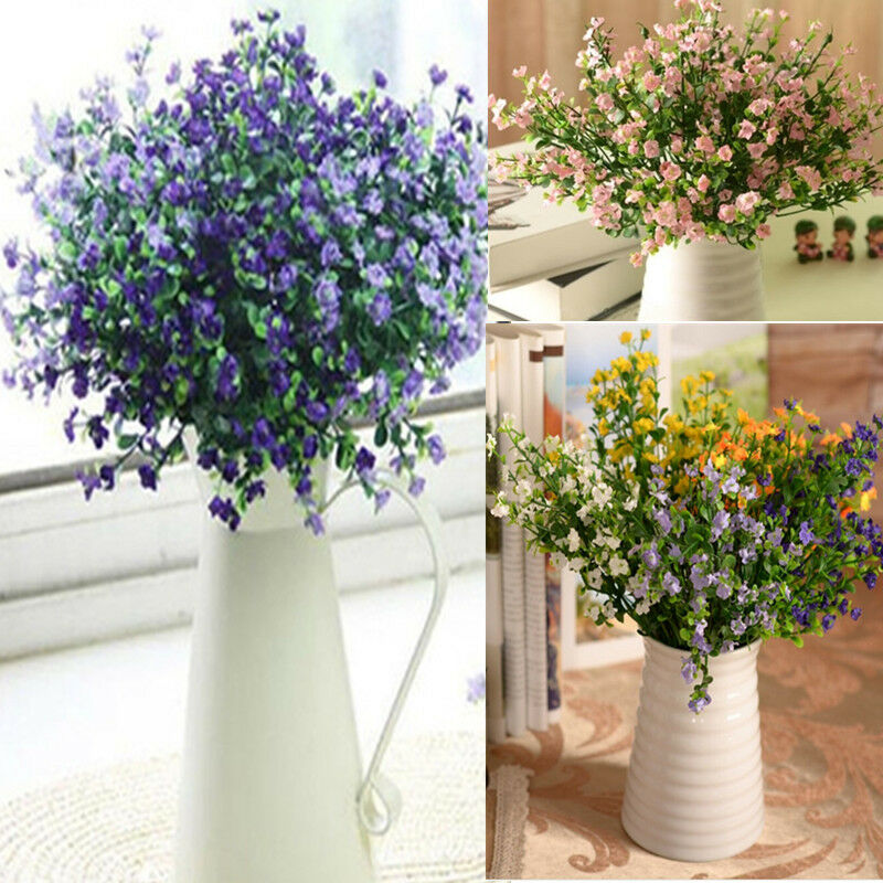 Artificial gypsophila 1 bouquet 6 branches silk flower for Artificial flower for wedding decoration
