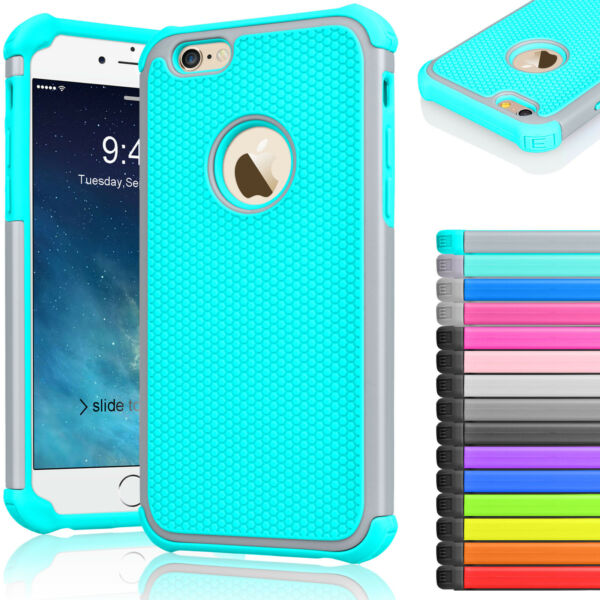 Rugged Rubber Hard Shockproof Cover Case for iPhone 8 7 6 6s 4.7