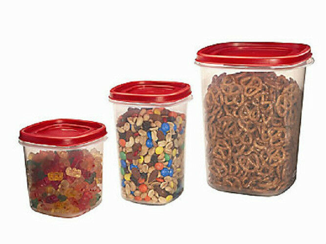Rubbermaid 1780200 3 Piece Canister Food Storage Container