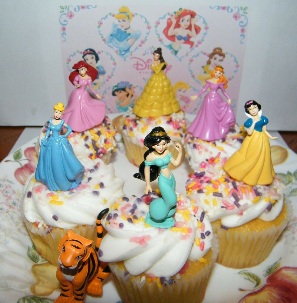 Disney Cake Decorations Princess : Disney Princess Cake Toppers Set of 7 with Jasmine, Belle ...