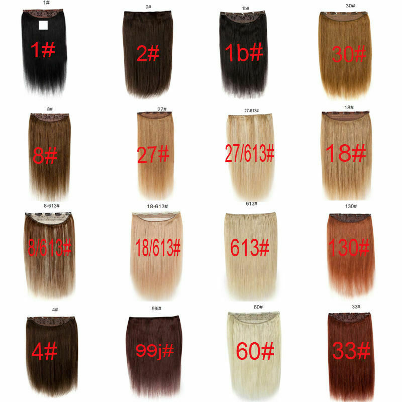 One Piece Full Head Hair Extensions Clip In Human Hair Extensions 18