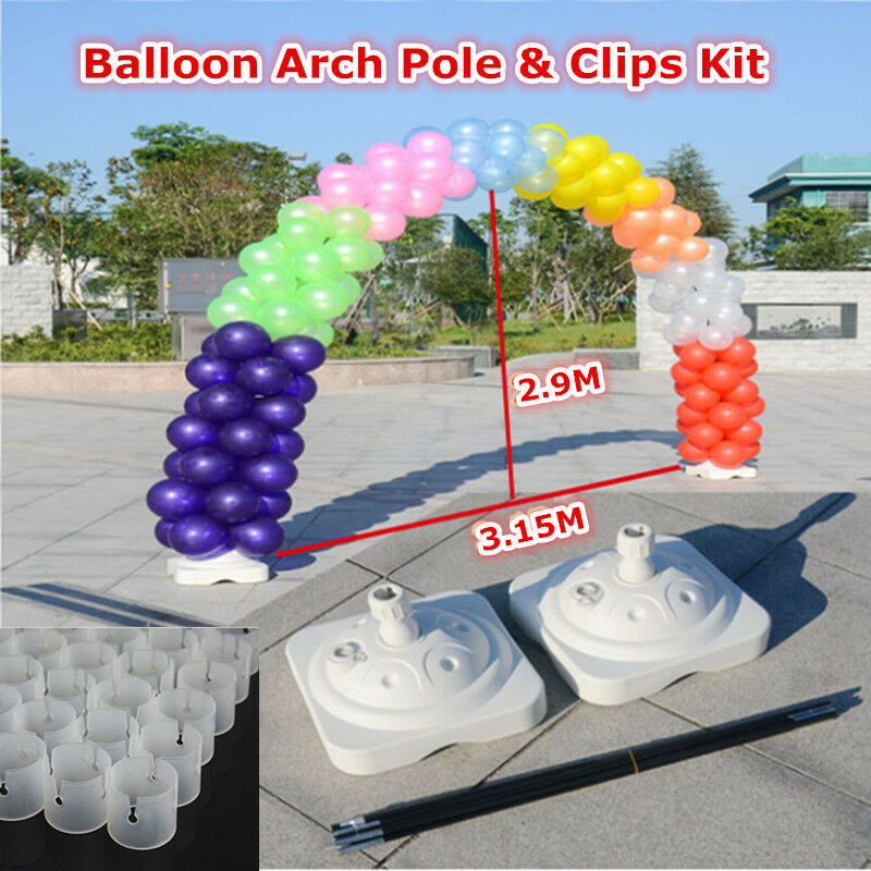 Balloon arch pole clips kit wedding party home shop grand for Balloon arch decoration kit