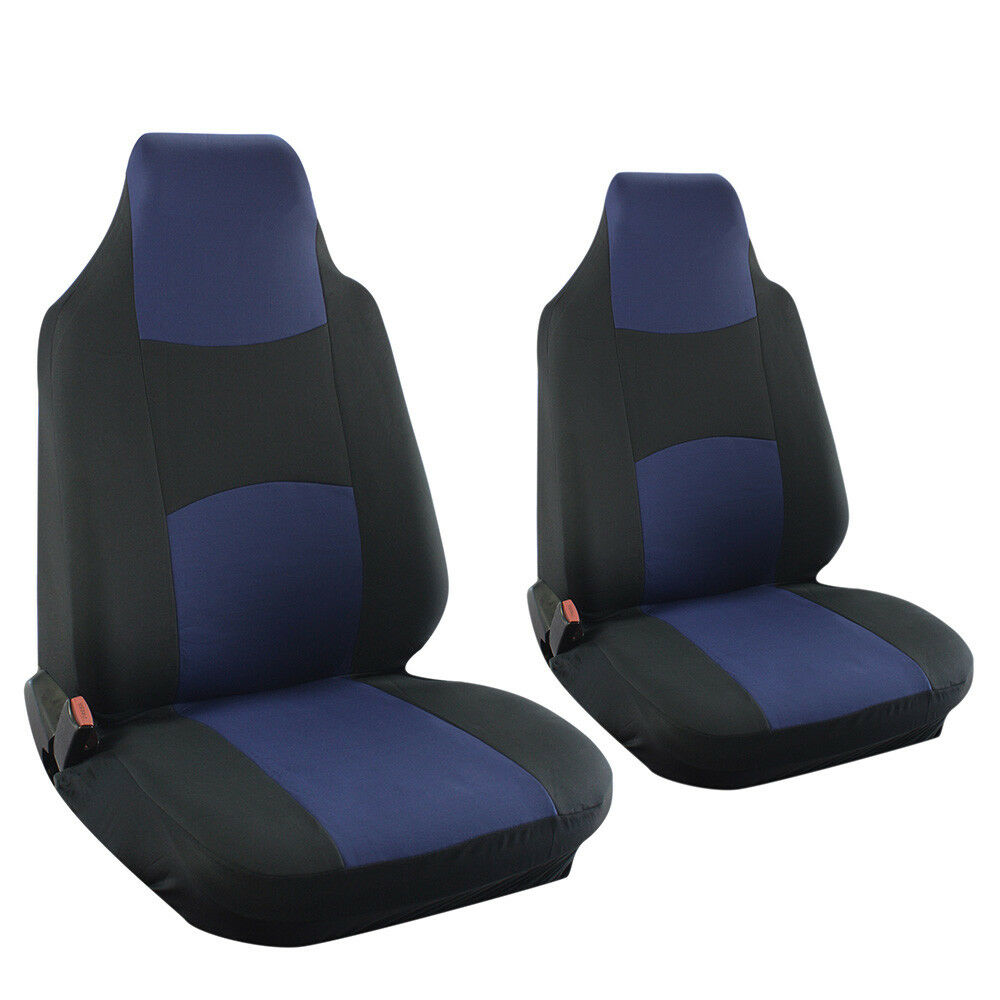 Suv Van Truck Seat Cover Blue Bucket 2pc Set W Integrated