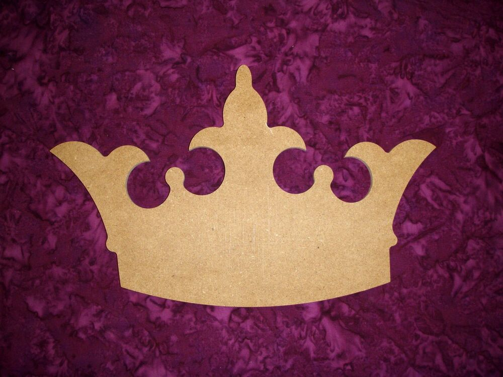 Princess Crown Shape Wood Cut Out Unfinished Wooden MDF