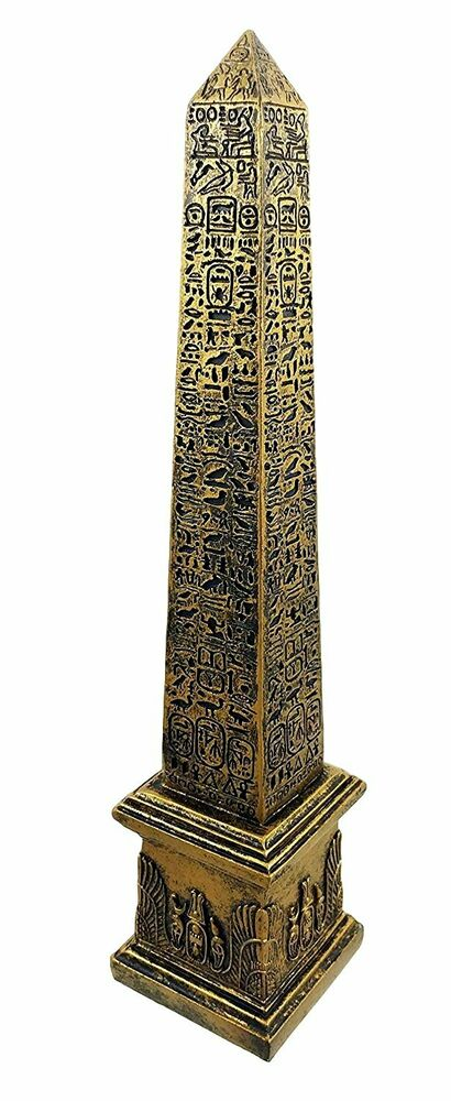 Egyptian theme obelisk temple of ra with hieroglyphs