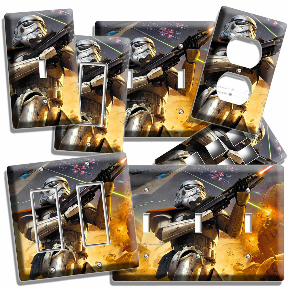 Star Wars Stormtrooper Light Switch Outlet Wall Plate