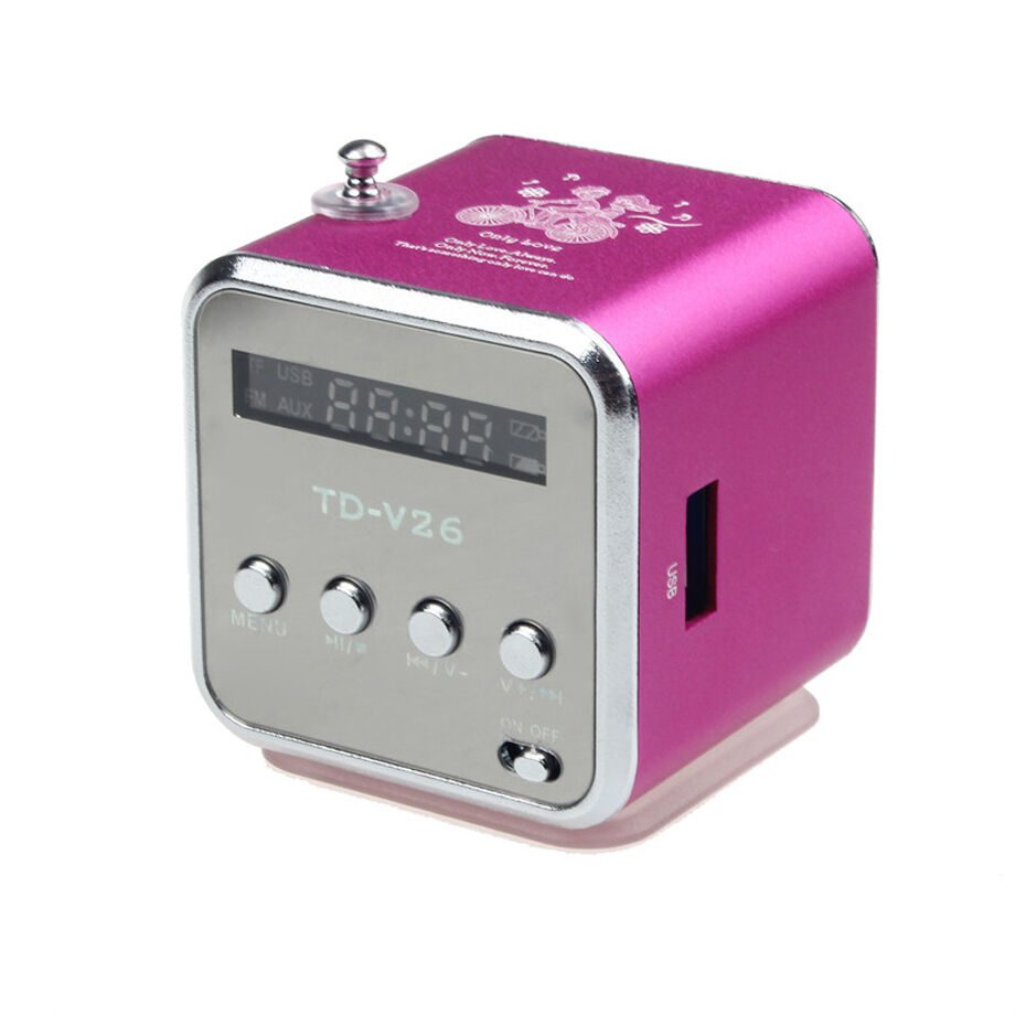 mp3 player amplifier usb disk speaker lcd display with fm radio micro sd tf card ebay. Black Bedroom Furniture Sets. Home Design Ideas