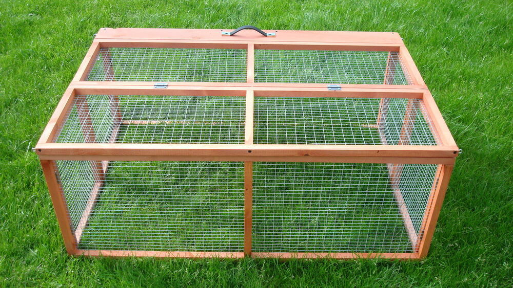rabbit guinea pig run cage wooden large folding