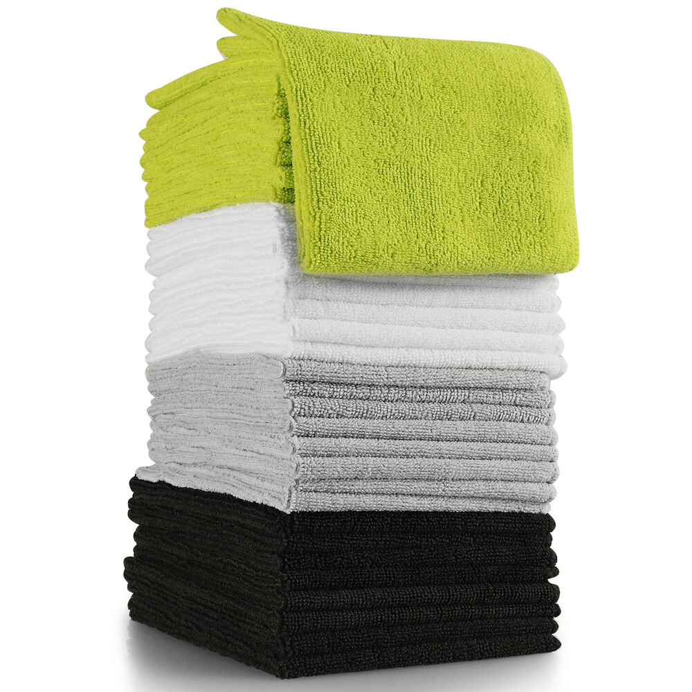 Microfiber Cloth Clean 32 Pack Set Towel Duster Rag For