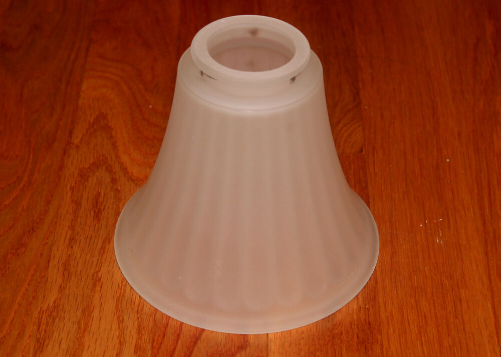 "Replacement Glass Shades For Bathroom Light Fixtures: 5"" Frosted Lily Shape Glass Light Bulb Fixture Cover Shade"