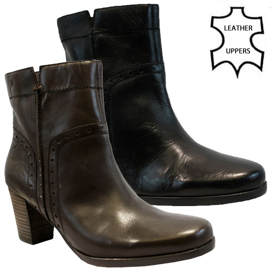 womens real leather chelsea cowboy biker zip ankle