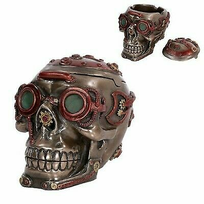 Ring In The Steampunk Decor To Pimp Up Your Home: Mad Max Style Steampunk Gearwork Nuclear Submariner Skull