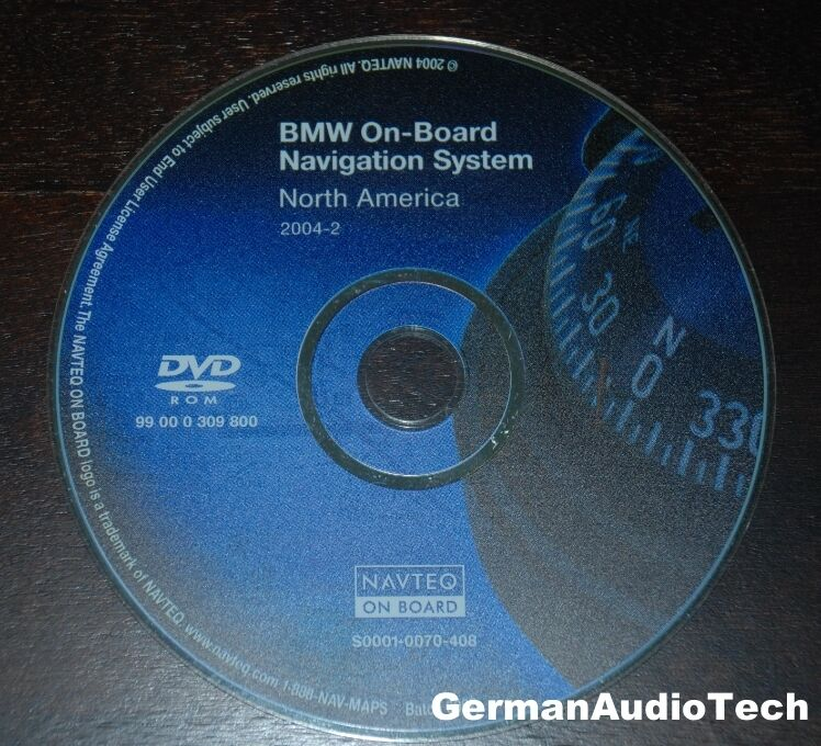 bmw navteq on board navigation dvd cd map disc north america 2004 2 99000309800 ebay. Black Bedroom Furniture Sets. Home Design Ideas
