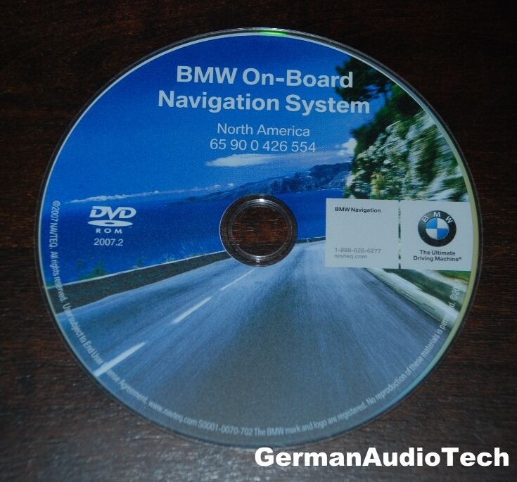 bmw navteq on board navigation dvd cd map disc north. Black Bedroom Furniture Sets. Home Design Ideas