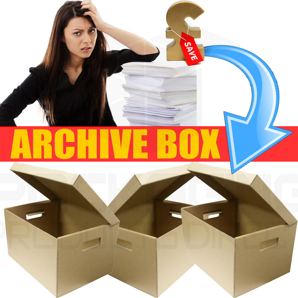 Large Archive Storage Boxes Amp Lids Strong Cardboard