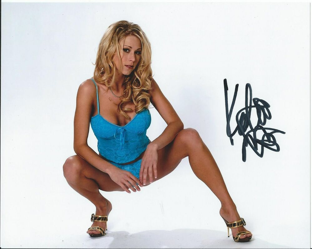Katie Morgan Blue Lingere Beautiful Model Hbo Hand Signed