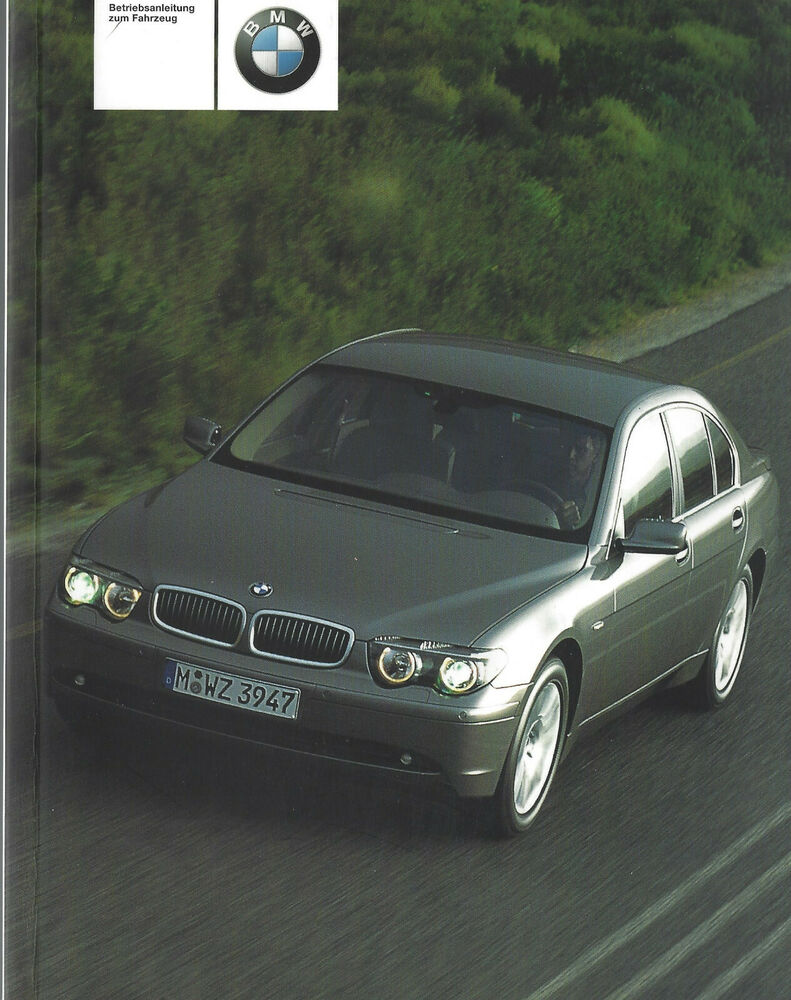 bmw e65 betriebsanleitung 2001 bedienungsanleitung 7er handbuch bordbuch ba ebay. Black Bedroom Furniture Sets. Home Design Ideas