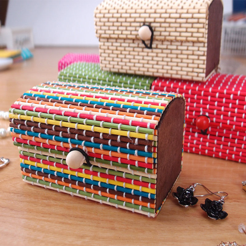 Jewellery Packaging And Bead Storage With: Bamboo Storage Box Home Organizer Jewelry Beads Boxes