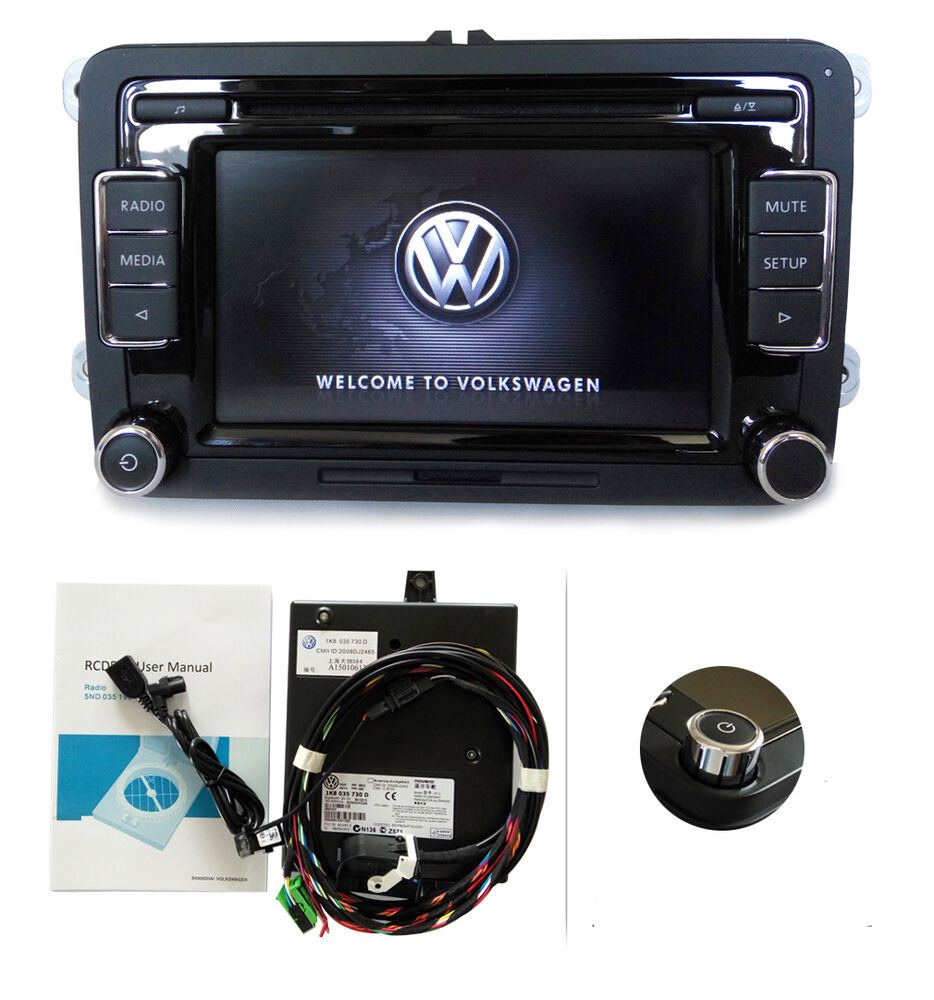 vw autoradio rcd510 mit bt usb kabel rfk aux cd golf. Black Bedroom Furniture Sets. Home Design Ideas