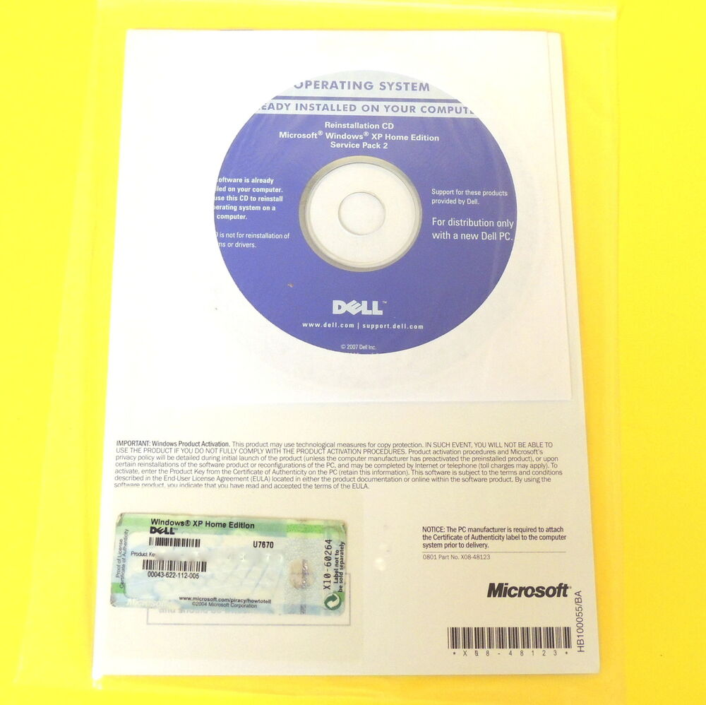 FULL Windows XP Home Edition SP2 X86 (Dell OEM Disc) by ...