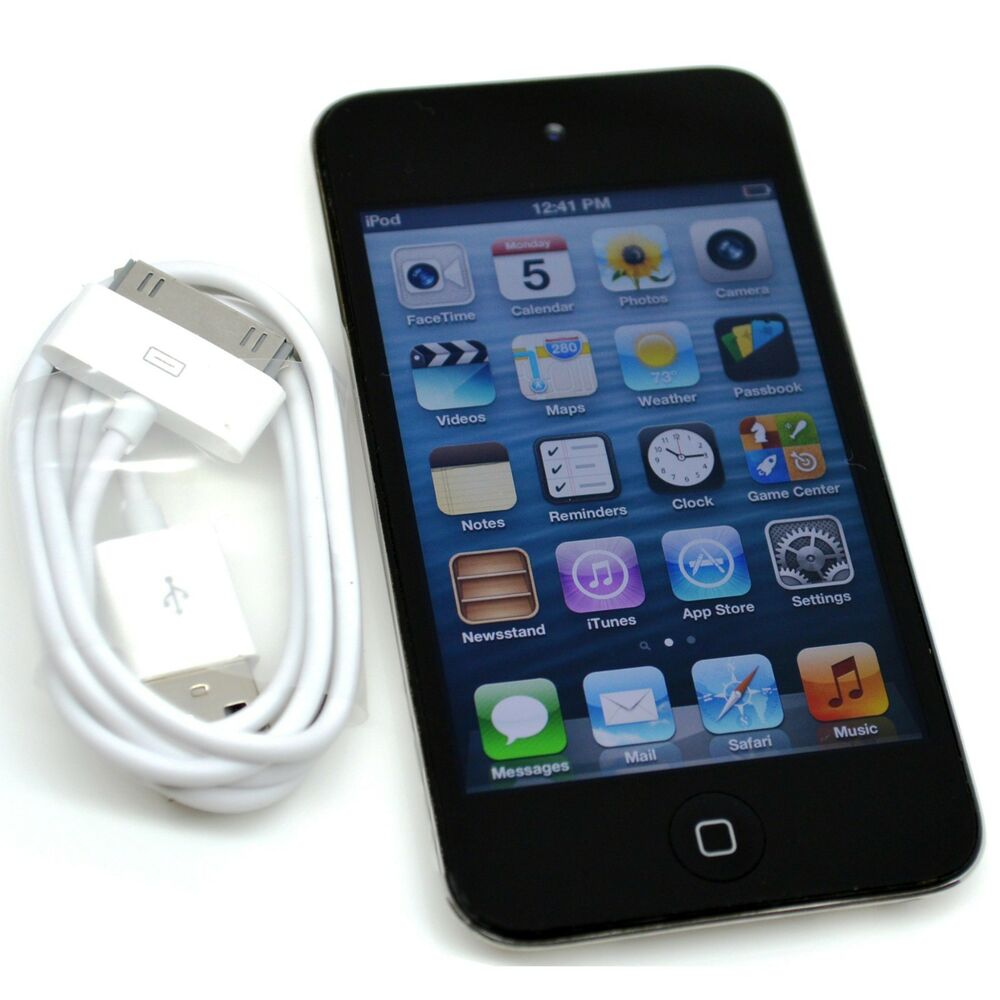 apple ipod touch 4th generation black or white 32 gb ebay. Black Bedroom Furniture Sets. Home Design Ideas