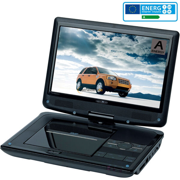 reflexion dvd 9003 portable dvd player swivel 9 inch 22. Black Bedroom Furniture Sets. Home Design Ideas