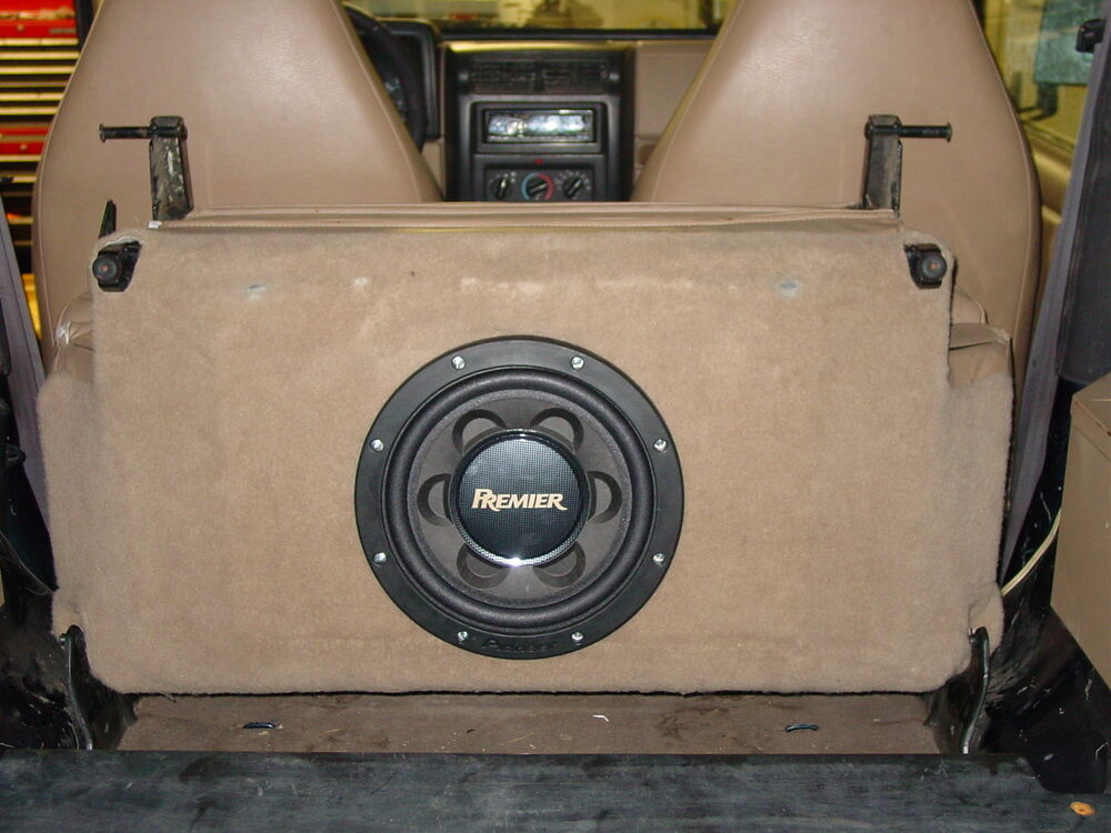 In Seat Subwoofer Box For 97 02 Jeep Wrangler Add Bass