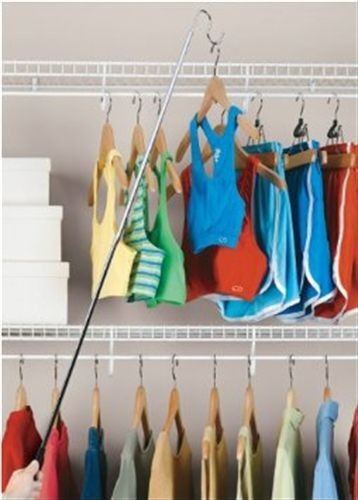 Closet Organizer Hanger Pole Easy Reach Reacher Grabber Arm Extender .