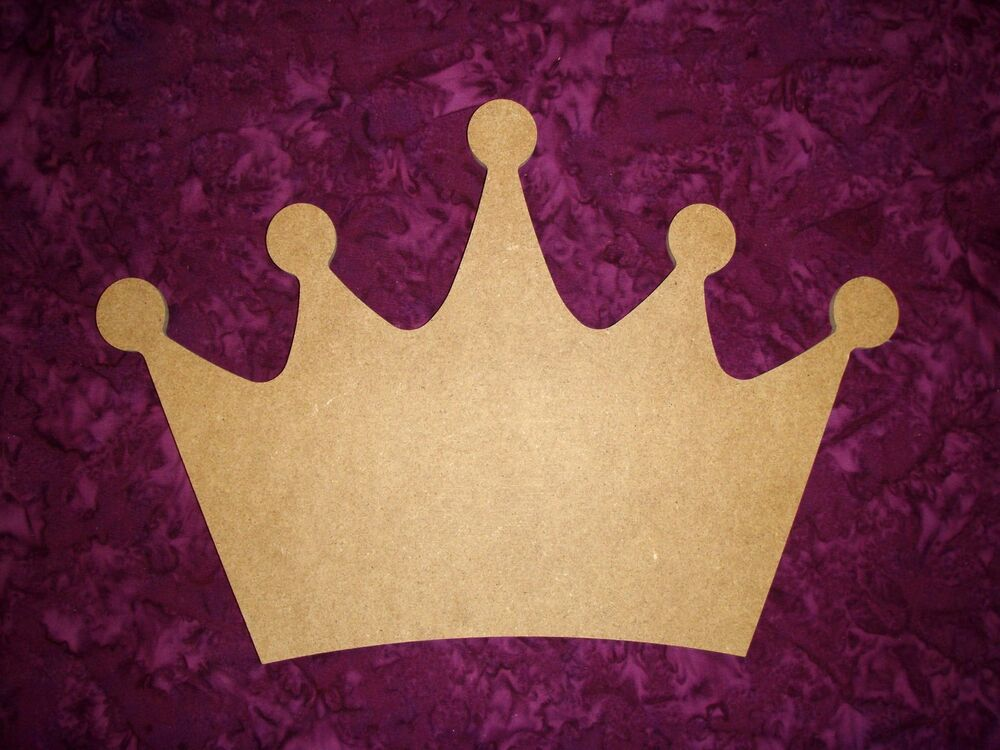 King Crown Shape Wood Cut Out Unfinished Wooden MDF Craft