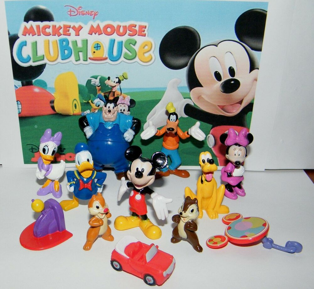 Mickey Mouse Toys : Disney mickey mouse clubhouse toy figure set of donald