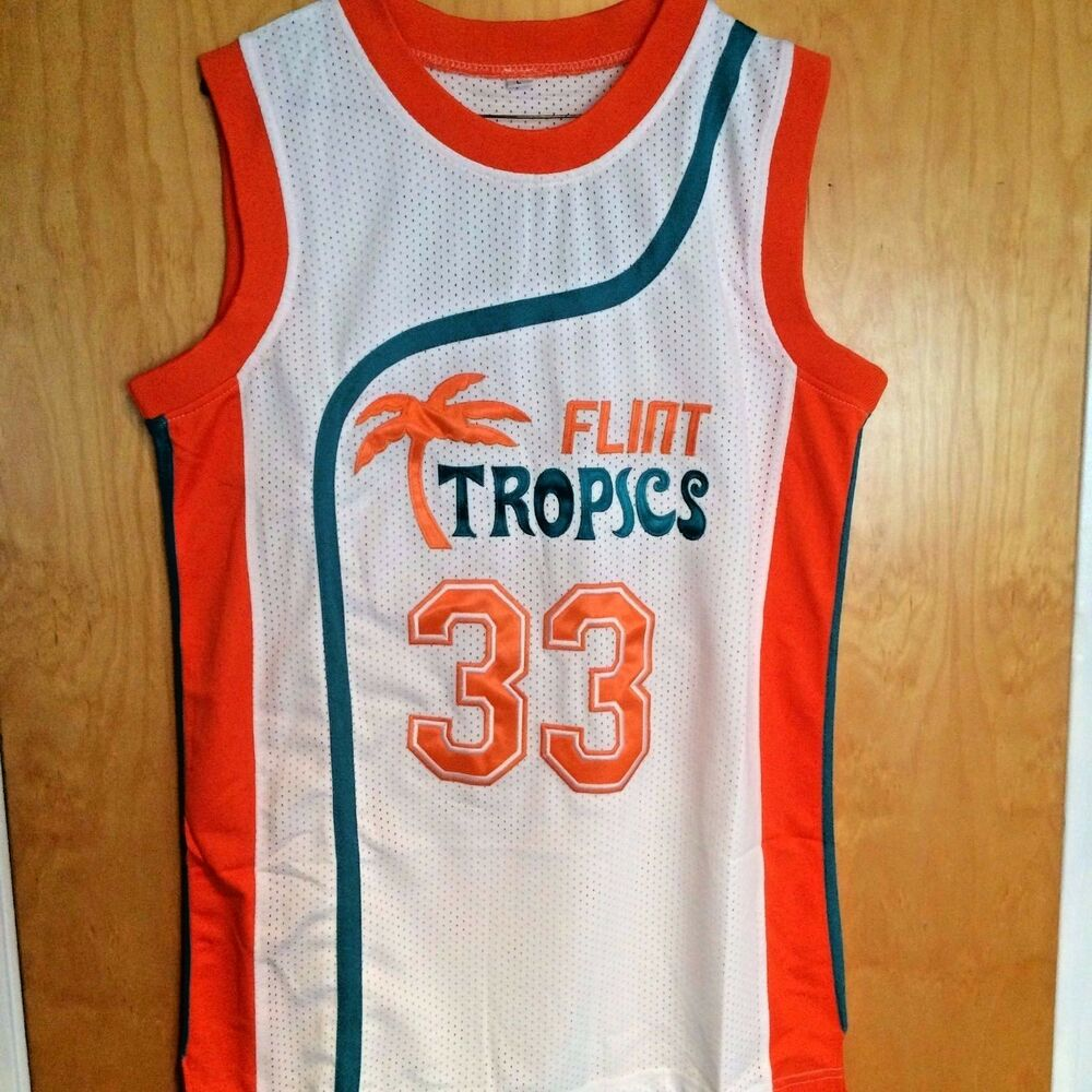 Details about Jackie Moon  33 Semi Pro Basketball Jersey Flint Tropics Will  Ferrell All Sizes 406ad2d04