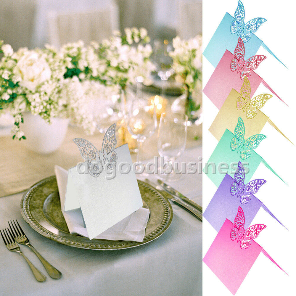 Laser Cut Table Place Card Name Number Wedding Party Decoration EBay