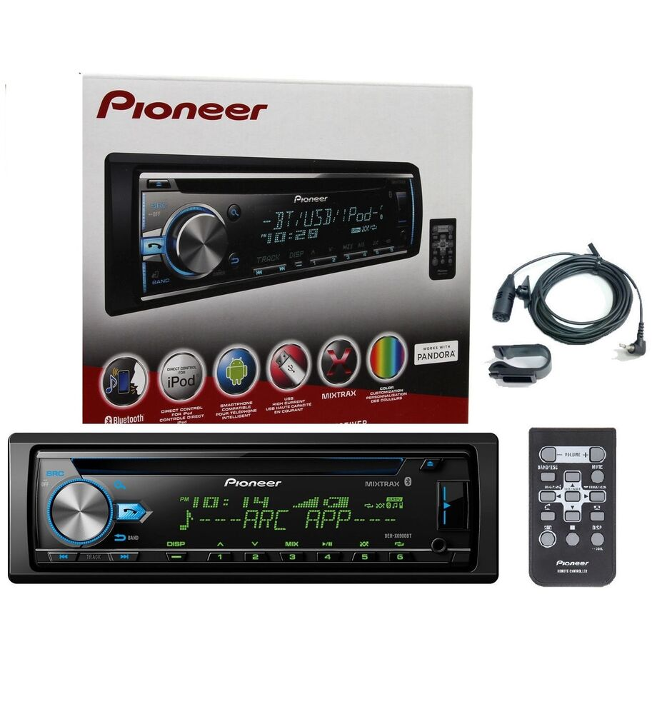pioneer deh x6900bt cd mp3 wma car stereo w aux in. Black Bedroom Furniture Sets. Home Design Ideas