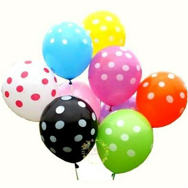 Fd1921 latex polka dot balloon party wedding holiday for Balloon decoration in pune