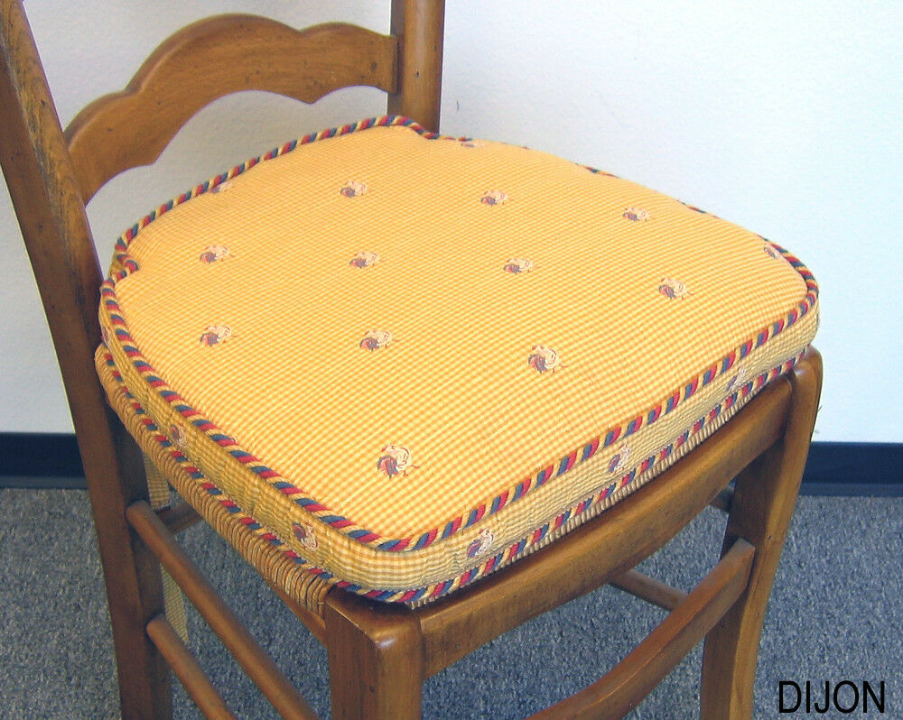French Country Living Chair Pad 7101 001 Dijon 4 Pack Ebay