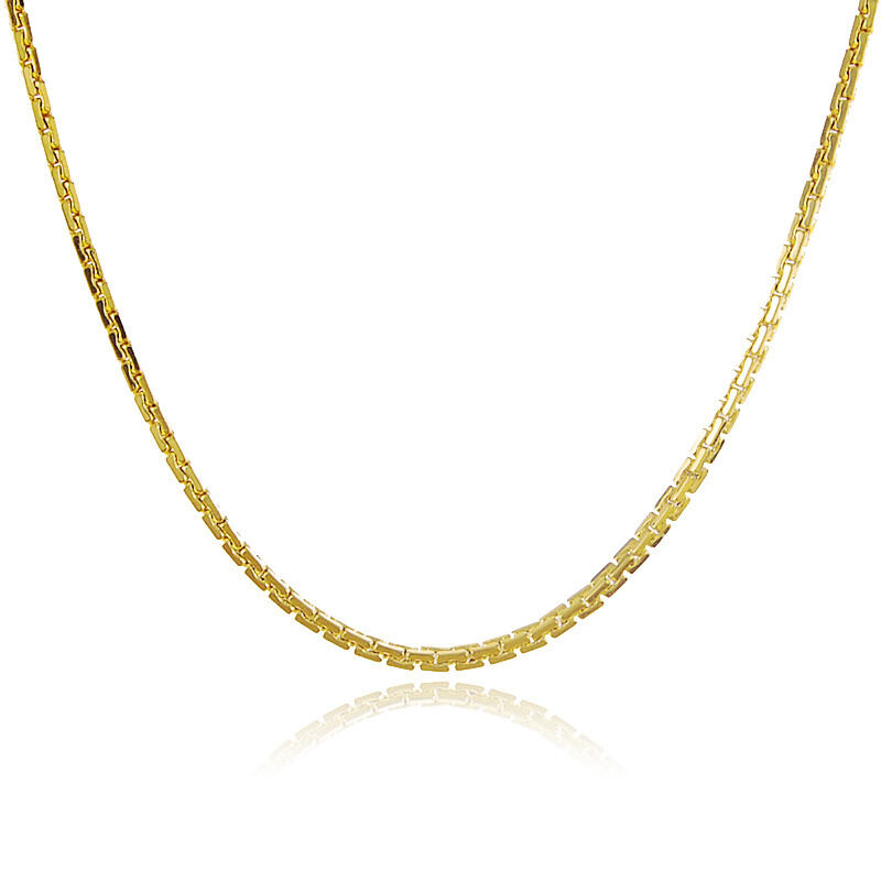 Thin Gold Chain Bracelet: Thin 24K Yellow Gold Plated Zipper Chain Men Women