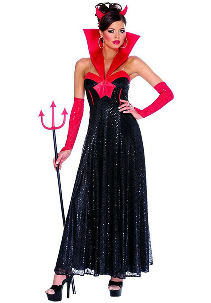 SEXY & SOPHISTICATED HOLLYWOOD DEVIL HALLOWEEN COSTUME ...