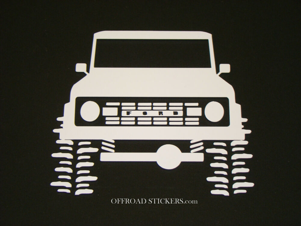 Old Ford Trucks Decals : Early ford bronco vintage classic sticker decal ebay