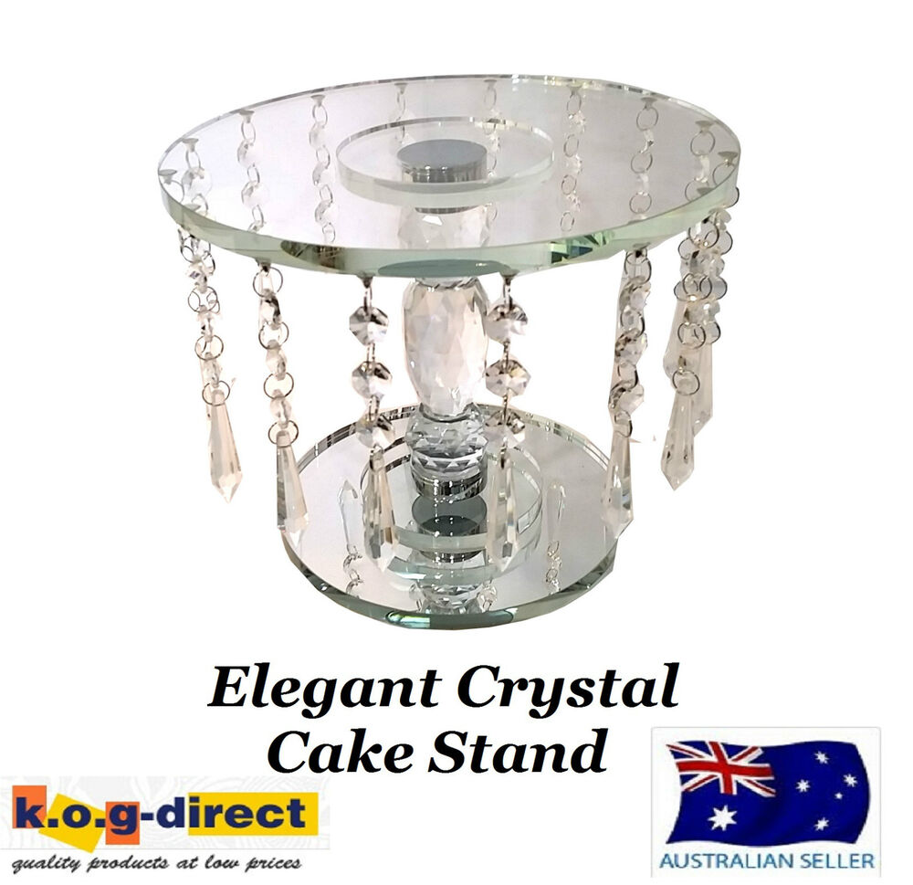 wedding cake stand with hanging crystals wedding engagement 23 5cm cake stand with 25684